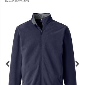Mens Lands End Fleece Jacket